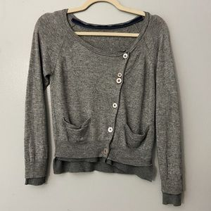 3.1 Phillip Lim Gray Cashmere Wool Blend Cardigan